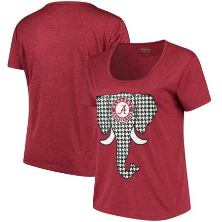 Alabama Crimson Tide Women's Plus Size Elephant Ear Houndstooth T-Shirt -