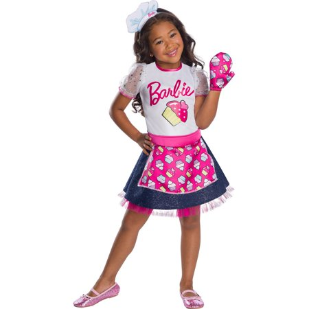 Girls Barbie Baker Chef Costume - Barbie Ideas For Costumes