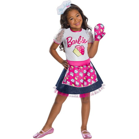 Girls Barbie Baker Chef Costume for $<!---->