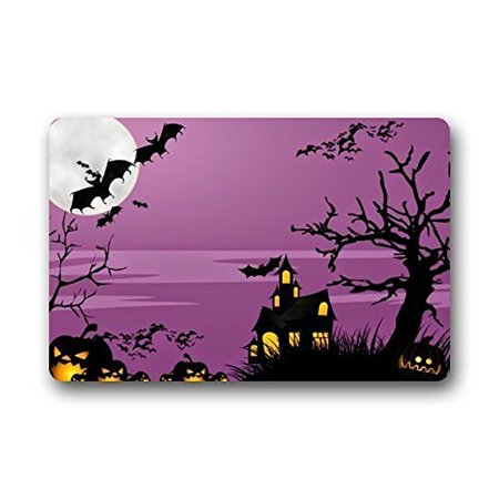4 Floor On 100 Floors Halloween (WinHome Halloween Doormat Floor Mats Rugs Outdoors/Indoor Doormat Size 23.6x15.7)