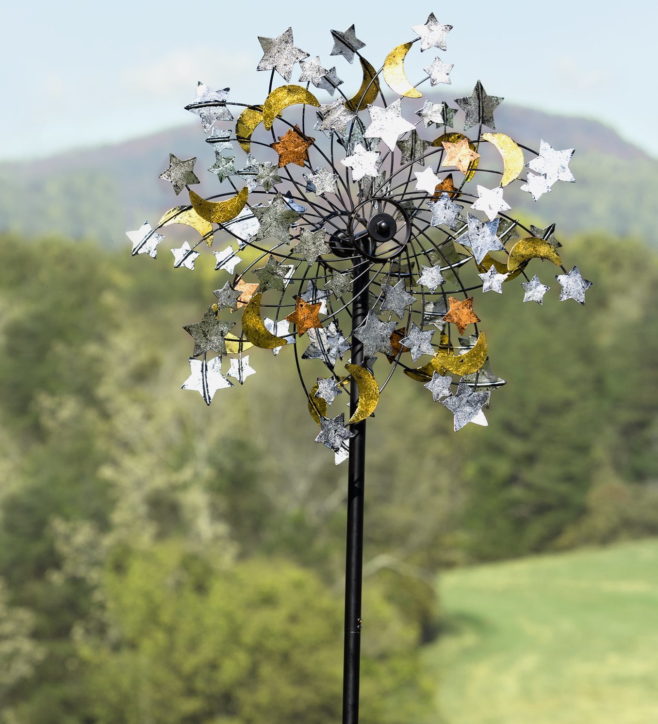 Celestial Confetti Garden Wind Spinner by Plow & Hearth