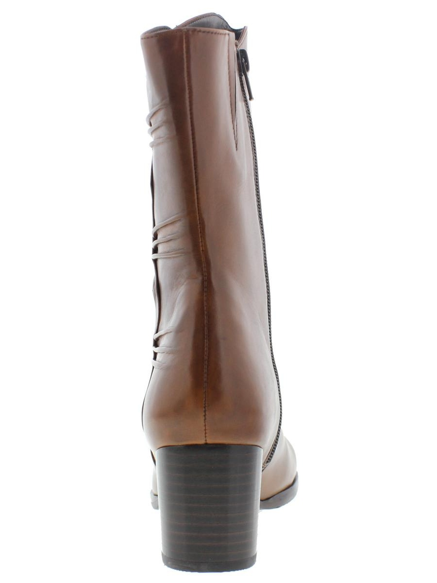 Everybody Womens Rachel Leather Round Toe Mid-Calf Boots