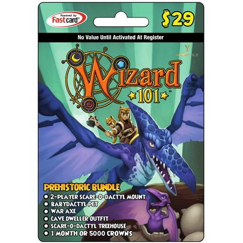KingsIsle Wizard101 Prehistoric Bundle $29 Card