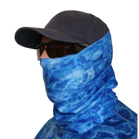 e4669bf2185 Aqua Design Men Water Camo UPF 50+ Sun Guard Protection Mask Face Tube  Multipurpose Wind Head Neck Sizes Youth to Adult XL Sports Fishing  Backpacking Gaiter