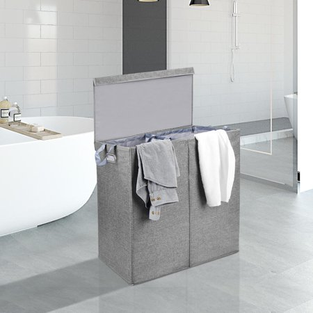 Sortwise Foldable Double Laundry Hamper Sorter With