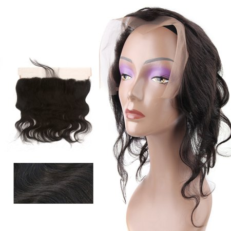 "12"" 13x4 Ear To Ear Lace Closure Free Part Brazilian Hair Extensions Body Wave - image 7 de 7"