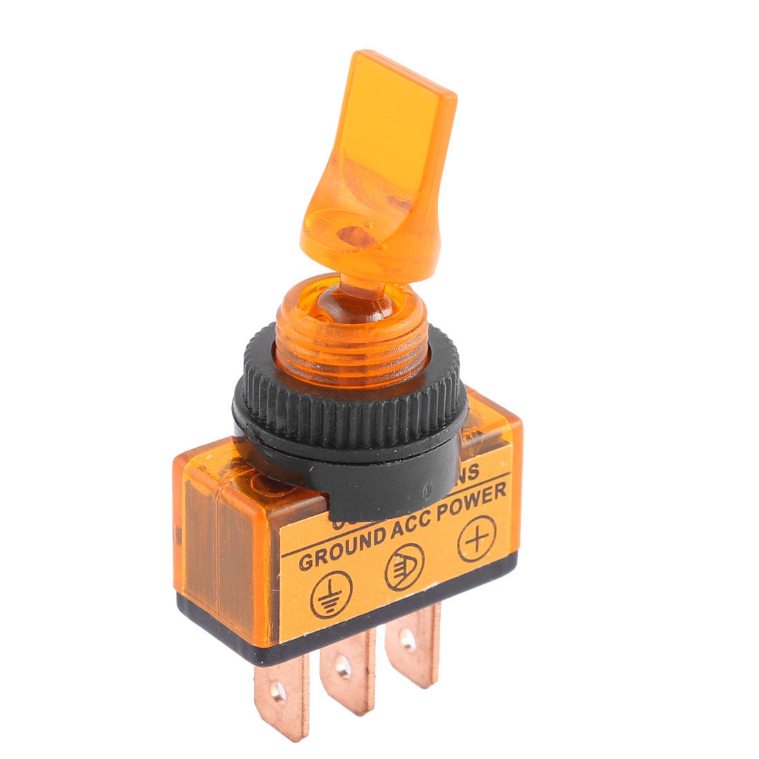 DC 12V 20A Lamp Short Arm 2 Positions SPST Latching Toggle Switch 12mm