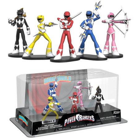 Funko Power Rangers Series 4 Red Ranger, Blue Ranger, Pink Ranger, Black Ranger & Yellow Ranger Vinyl Figure 5-Pack