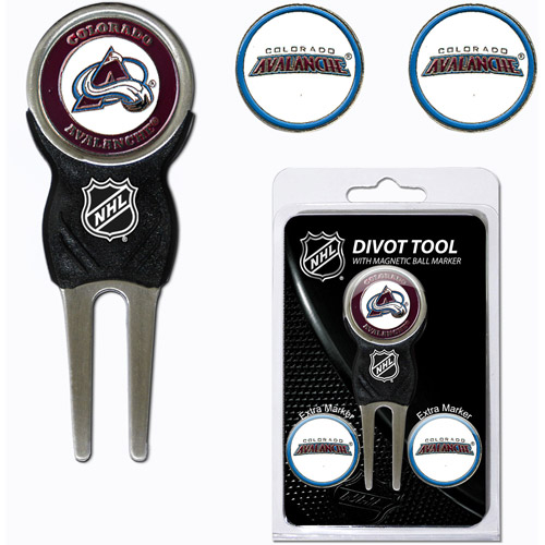 Team Golf NHL Colorado Avalanche Divot Tool Pack With 3 Golf Ball Markers