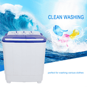 ZOKOP Portable Compact Mini Twin Tub Washing Machine w/Wash and Spin Cycle, 16Lbs Semi-automatic Washing Machine For Colthing, Camping, Apartments, Dorms, College Rooms, RV's and more