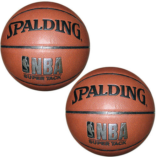 "Spalding NBA SUPER TACK Basketball, Official Size 29.5"" - 2 Pack"