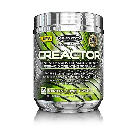 MuscleTech Creactor Creatine Powder, Lemon Lime, 120 Servings ()