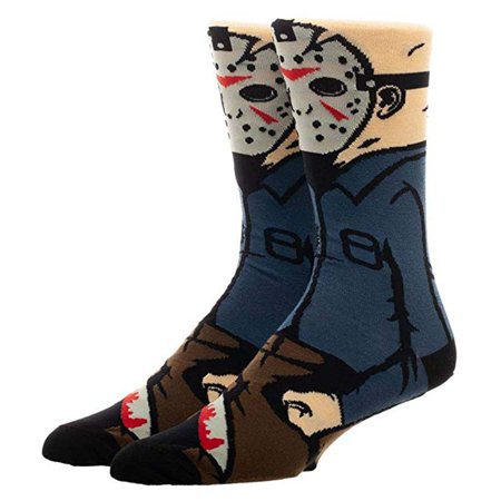 Jason Voorhees Character Collection 1 Pair Of Crew Socks