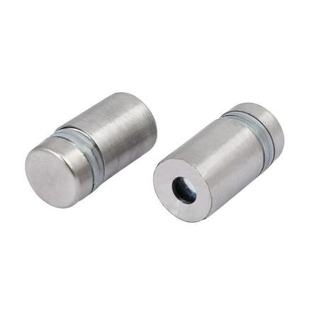 12mmx30mm Stainless Steel Advertisement Fixing Screws Glass Standoff Pins 20pcs - image 1 de 3