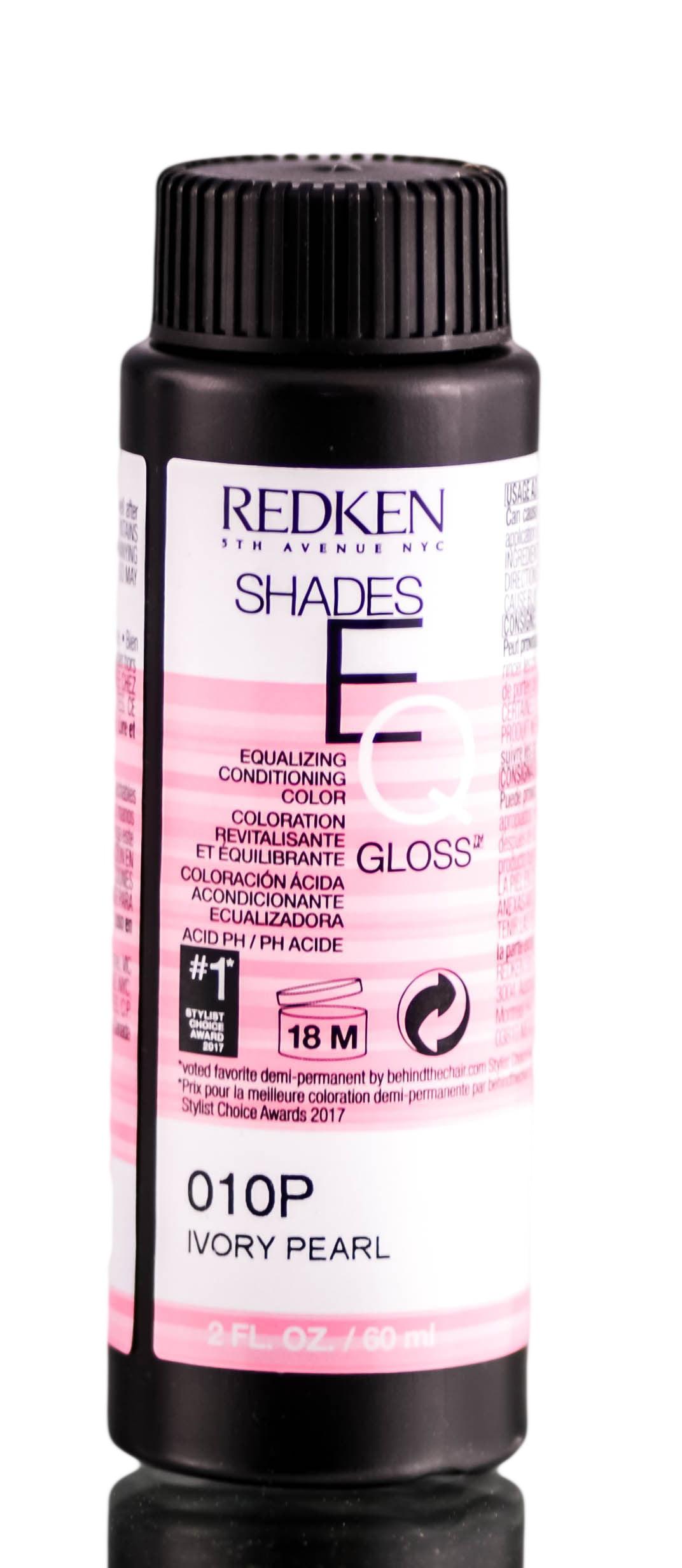 Redken Shades Eq Demi Permanent Equalizing Conditioning Color Gloss Ammonia Free 010p 10p Ivory Pearl Walmart Com Walmart Com