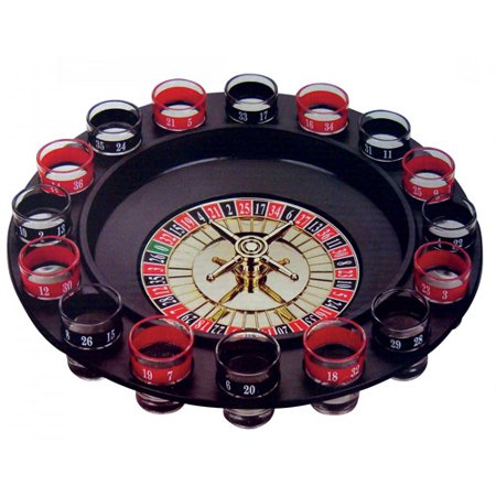 Creative Motion Spin N Shot, It comes with all the shot glasses for drinks. Ite has a spin game in the middel to decide who to drink. Fun, Game, Drink, Party, Wedding, Events. Product: 11.75x2.75x11.75](Shot Drinks For Halloween)