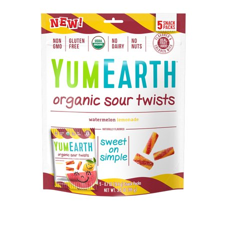 YumEarth Organic Sour Twists (5 Snack Packs)