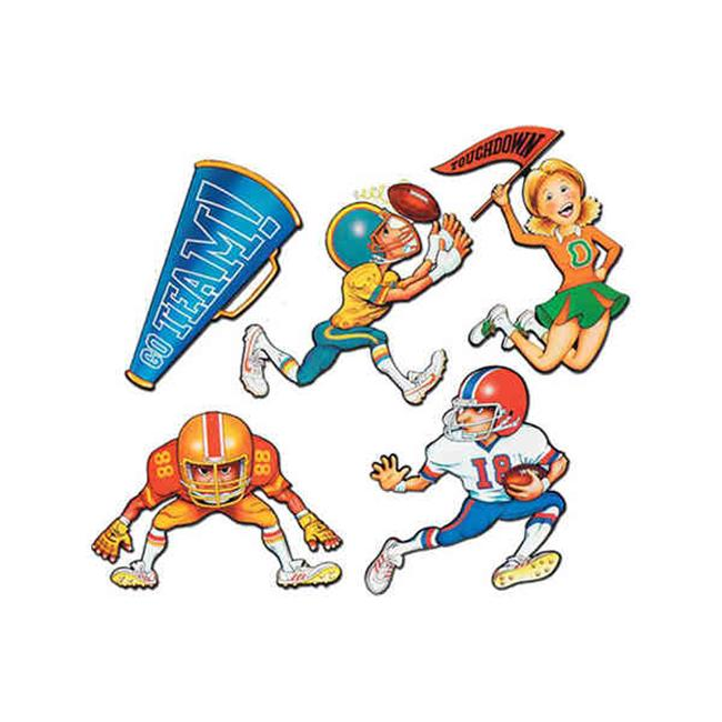 Beistle - 55487 - Football Cutouts - Pack of 24