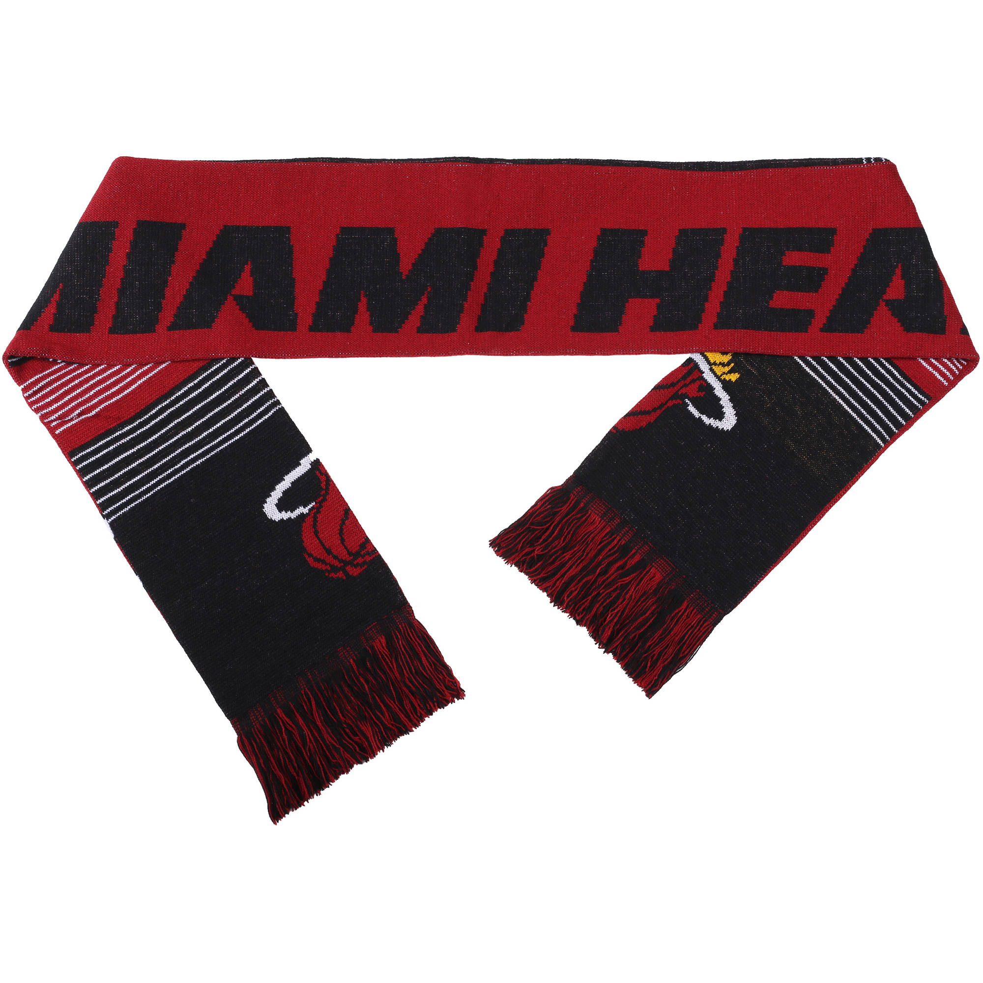 NBA Forever Collectibles Reversible Split Logo Scarf, Miami Heat
