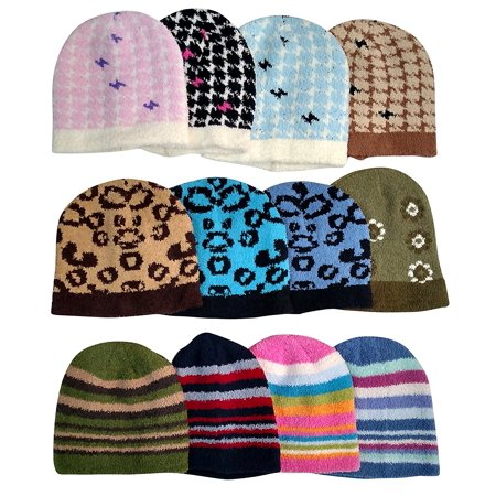 Excell - Womens Winter Fuzzy Hats 91780b0a15b