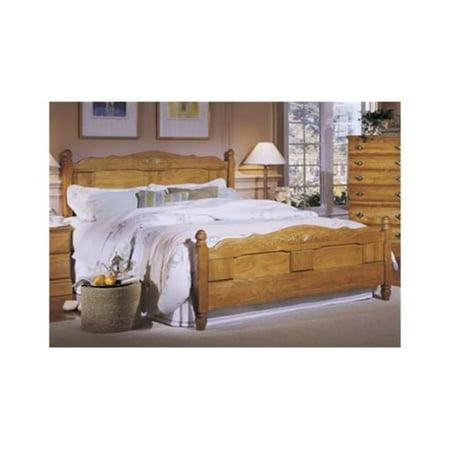 Carolina Furniture Works 237860 Headboard Panel 6 6 Golden Oak