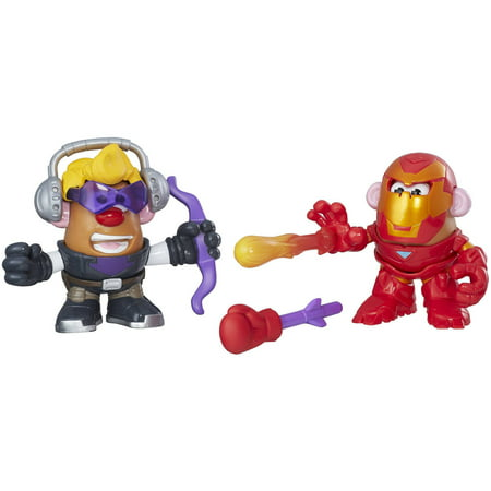 Playskool Friends Mr. Potato Head Marvel Mashups Hawkeye and Iron - Ms Potato Head