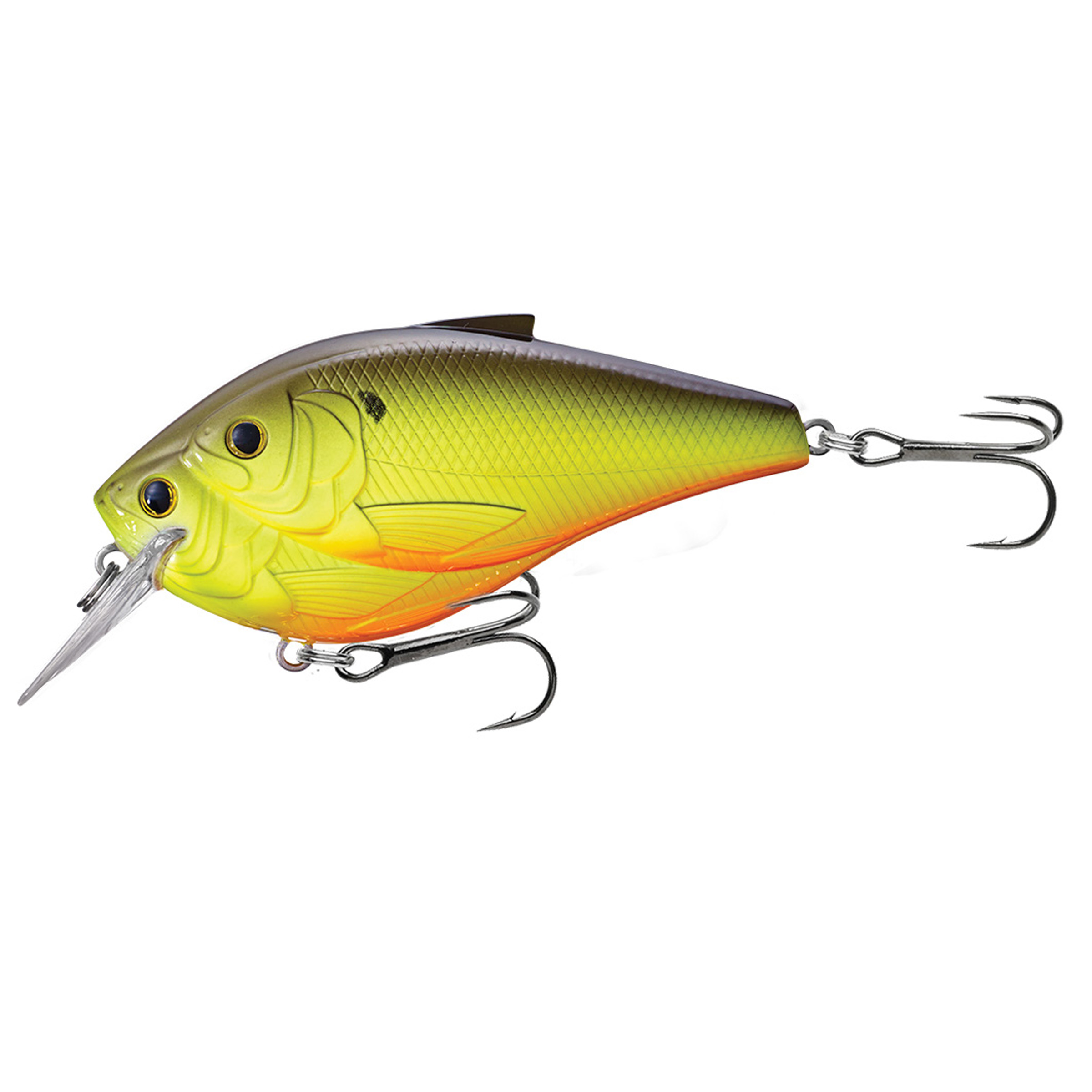 "LiveTarget Threadfin Shad Squarebill Freshwater, 3"", #1 Hook, 4'-5' Depth, Metallic Chartreuse/Black"