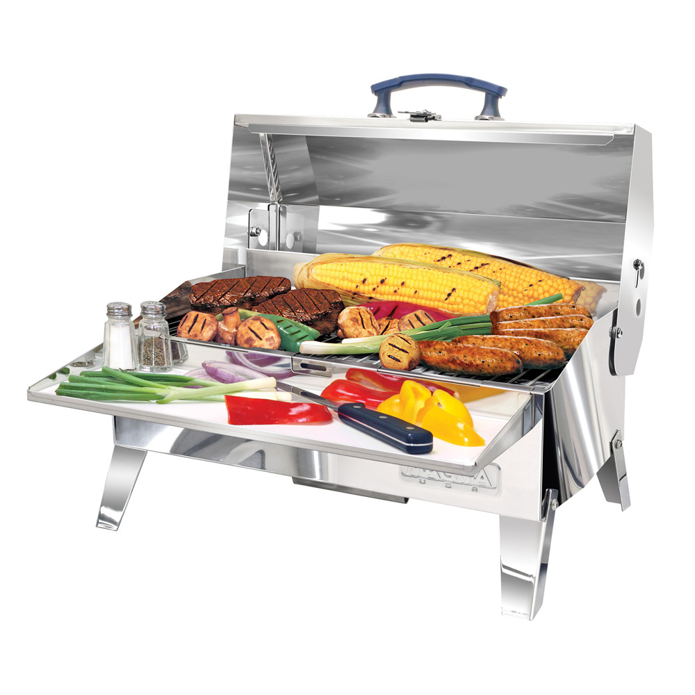 "Magma A10-703C Adventurer Marine Series Cabo Charcoal Grill with 9"" x 18"" Grill Area"