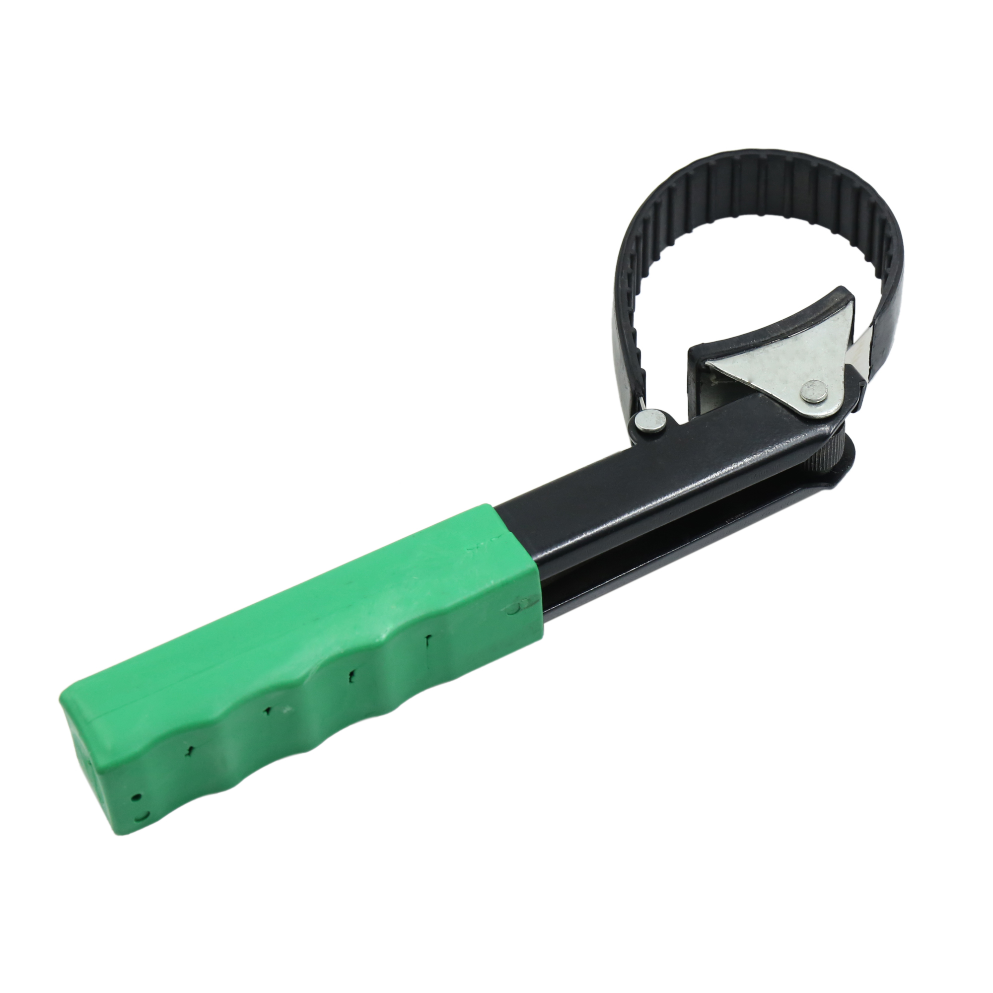 Green Handle Oil Filter Strap Wrench Adjustable Spanner Repair Tool for Car