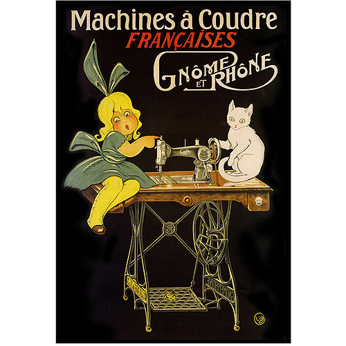 "Trademark Fine Art ""Machines a Coudre"" Canvas Art, 24x32"