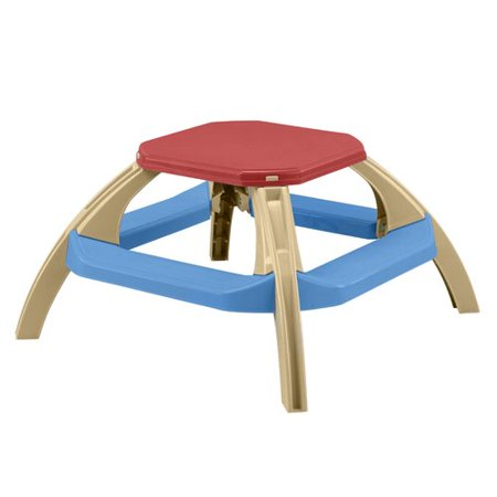 Admirable American Plastic Toys Kids Indoor Outdoor Octagonal Picnic Table Squirreltailoven Fun Painted Chair Ideas Images Squirreltailovenorg