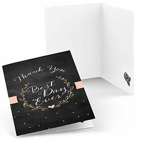 Best Day Ever - Bridal Shower Thank You Cards (8 count)