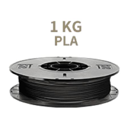 [Universal 3D Filament] XYZprinting PLA 3D Printer Filament, 1kg Spool, 1.75 mm, Black [Also Works with da Vinci Jr/Mini/Nano Series, Extra Spool Holder Needs to be (Da Vinci Mini Wireless 3d Printer Review)