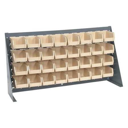 Sided Louvered Rack (QUANTUM STORAGE SYSTEMS QBR-3619-210-32IV Louvered Bench Rack, 36 x 8 x 19In, )
