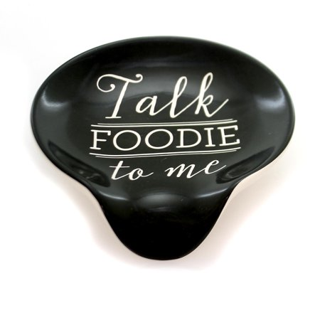 Kitchen TALK FOODIE TO ME SPOON REST Ceramic Kitchen Cook 1004180159