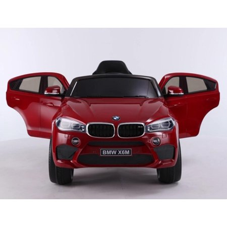 Newest Official 12v BMW X6 M Kids Ride On Car With Leather,Remote Control, Music, Lights