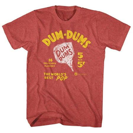 Dum Dums- World's Best Pop Apparel T-Shirt - Red (Best American Apparel Ads)