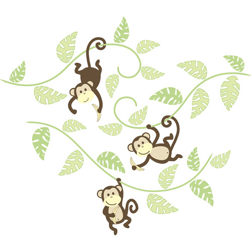 WallPops Monkeying Around Wall Art Kit