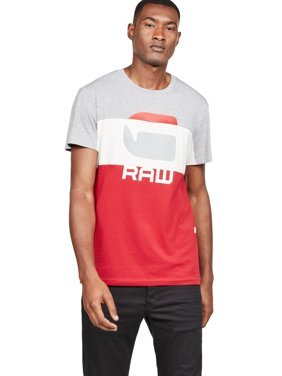 8ed2fea9c Product Image G-Star Raw Men's Graphic 41 Pieced Colorblock Short Sleeve T- Shirt
