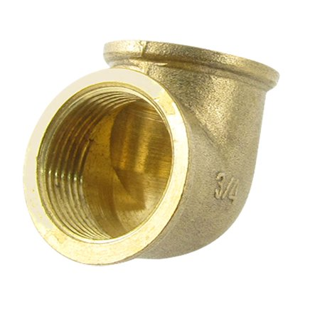 Unique Bargains 3/4 PT x 3/4 PT 90 Degree Brass Pipe Female Threaded Elbow Fitting Adapter Brass Threaded 90 Degree Elbow