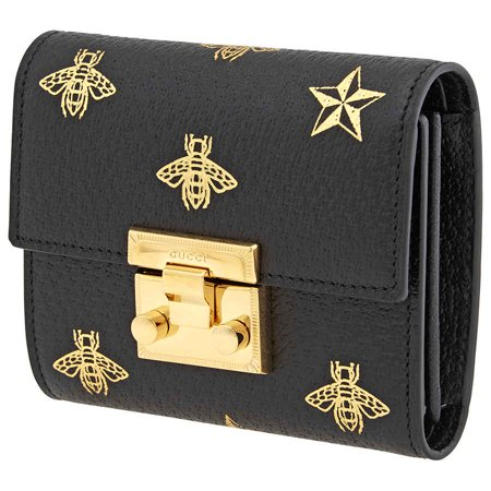Gucci GG Ladies Bee Wallet Gucci White Wallet