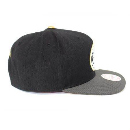 Mitchell and Ness Toronto Raptors Gold Tip Gold/Black Snapback Hat - image 3 of 4