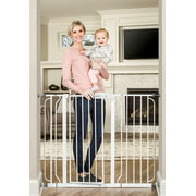 Regalo 38-Inch Extra Tall and 49-Inch Wide Walk Thru Baby Gate, Includes 4-Inch and 12-inch Extension Kit, 4 Pack of Pressure Mount Kit and 4 Pack of Wall Mount Kit