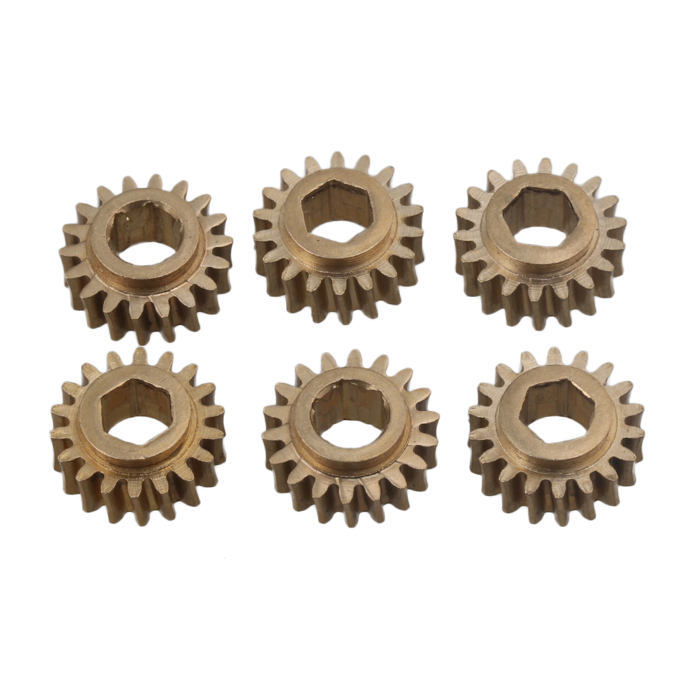 BQLZR 11.7x5.6MM Golden Iron Ratio 1:18 Guitar Tuning Peg String Machine Head Axle Hex Hole Gear Pack of 6