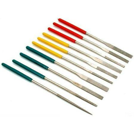 10 Diamond Needle Files Jewelers Lapidary Filing Tools Diamond Needle File Set