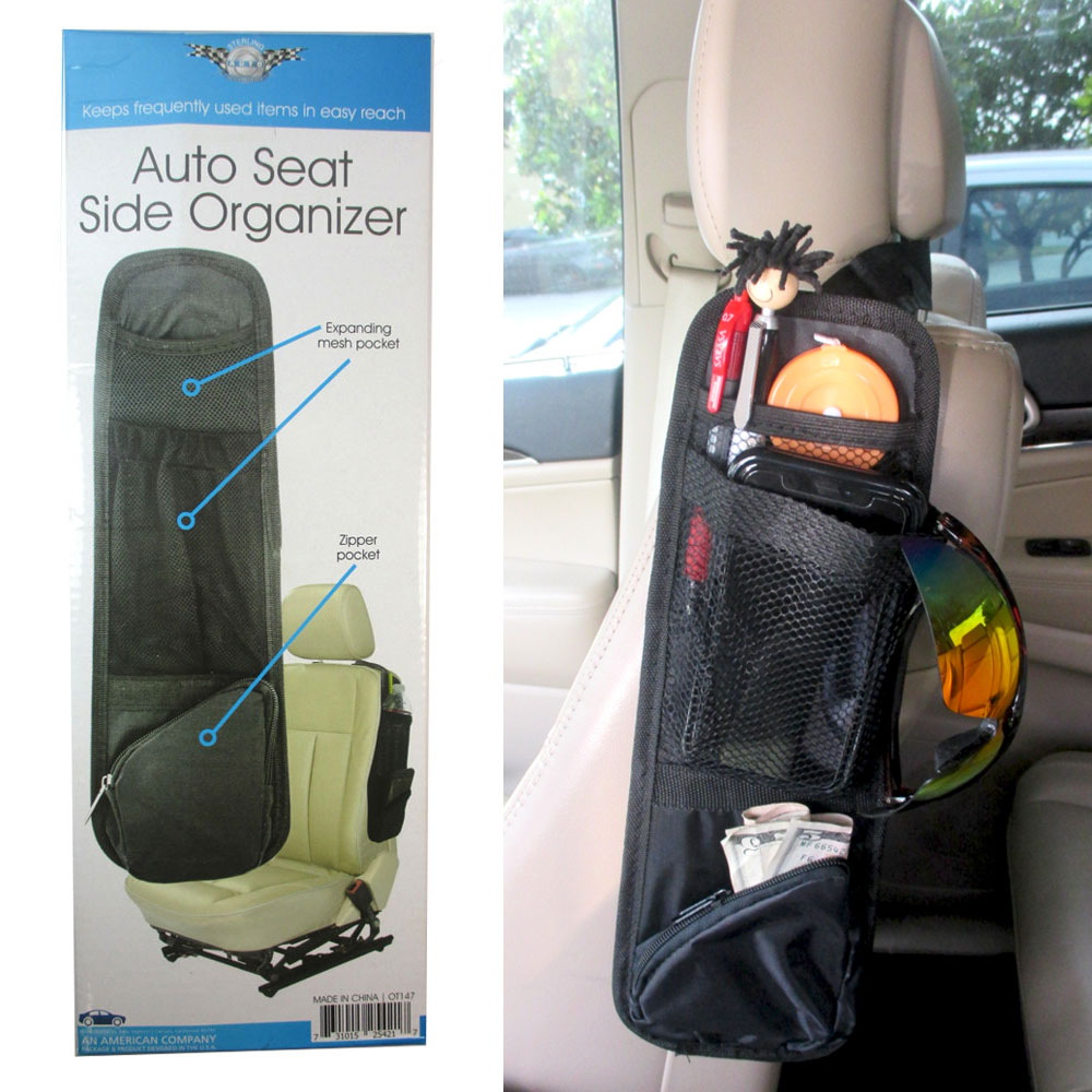 Car Seat Front Side Holder Organizer Storage Hanger Caddy Auto Car Mini Van SUV