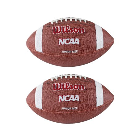 (2) WILSON NCAA Red Zone Junior Size Composite Leather Footballs WTF1571ID