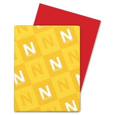 Neenah Astrobrights 8.5 x 11 Re-Entry Red Cardstock 65lb Cover 250/Pack