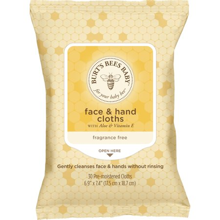 Burt's Bees Baby Face & Hand Cloths, 30 ct