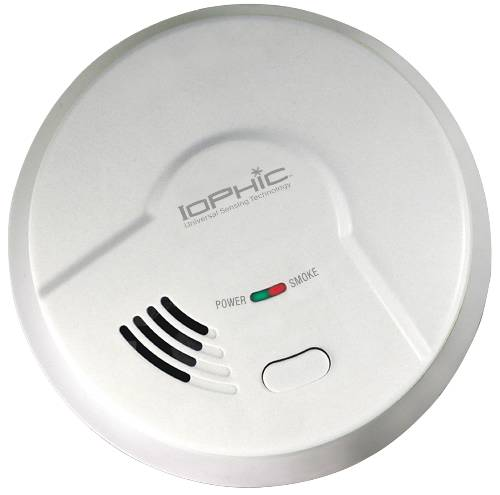USI IOPHIC SMOKE DETECTOR WITH 9-VOLT BATTERY